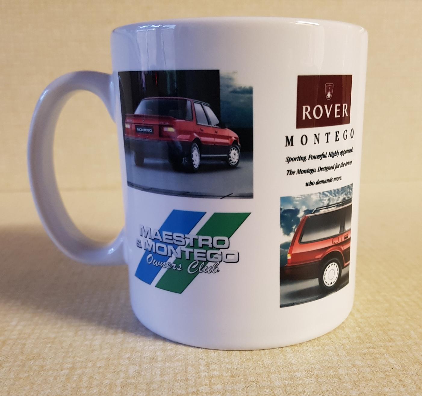 Mug with Rover Montego artwork - Maestro & Montego Owners Club